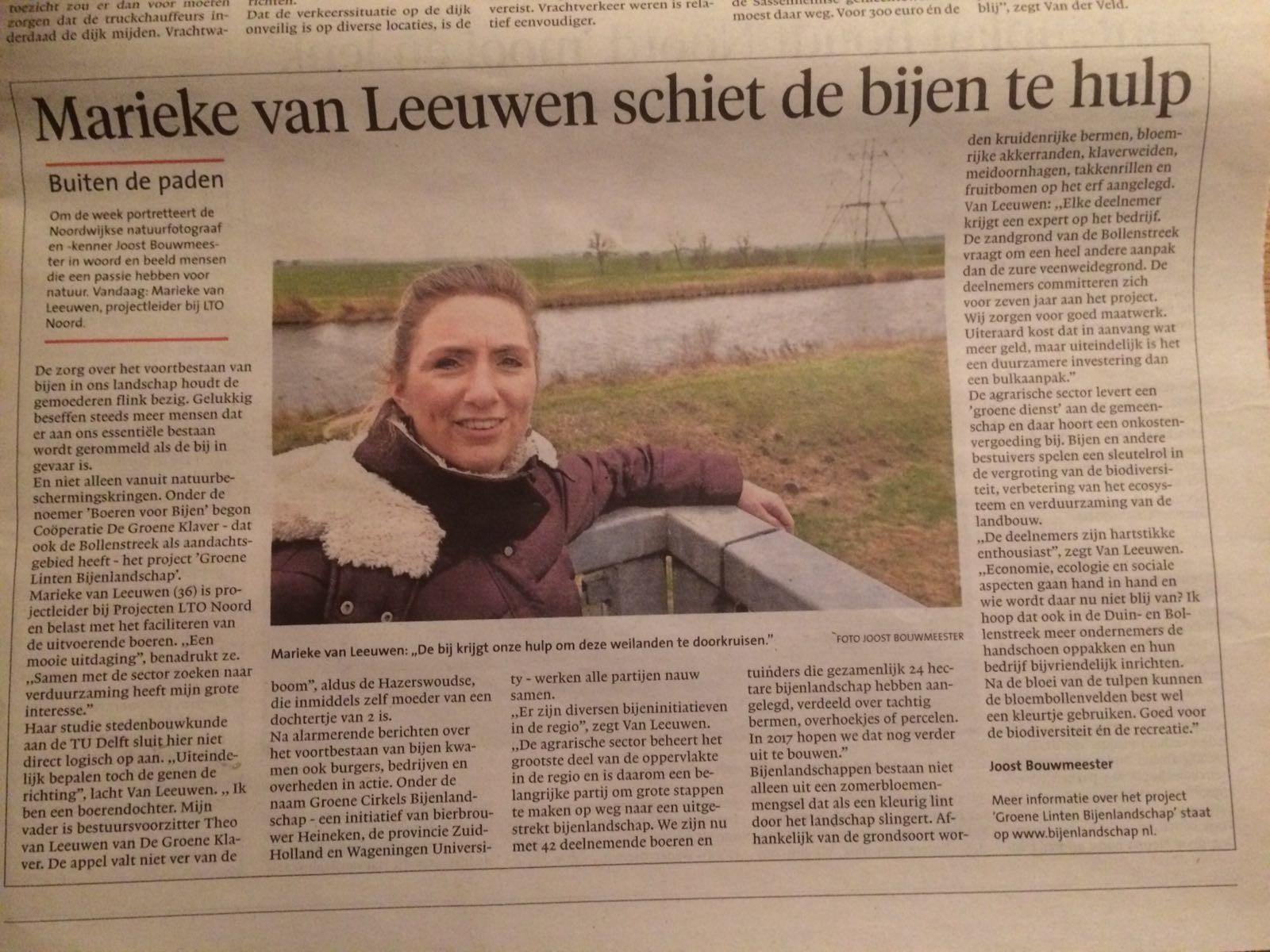 Marieke van Leeuwen in de Volkskrant